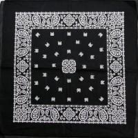 Бандана Черная с белыми узорами 1