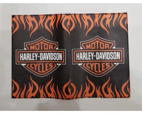 Обложка для паспорта Harley Davidson 1