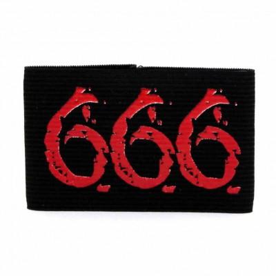 Браслет резиновый 666
