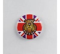 Значок Бульдог на Британском флаге 1
