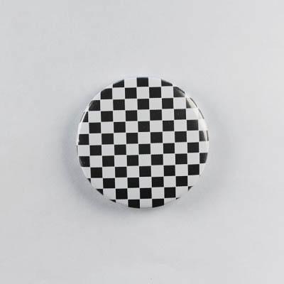 Значок Клетка Черно-белая 1
