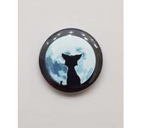 Значок Кот смотрит на луну 1
