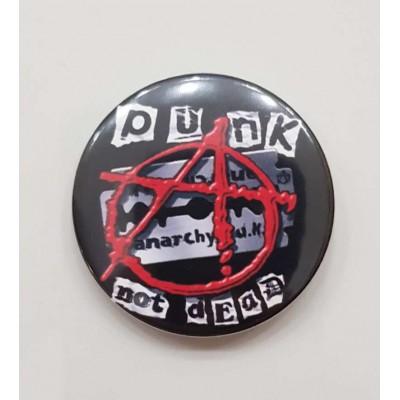 Значок Punks not dead 1