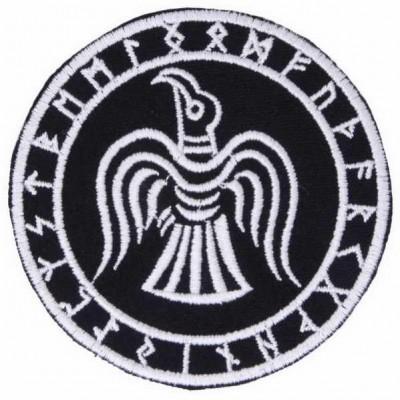 Нашивка Ворон Одина в Футарке v1