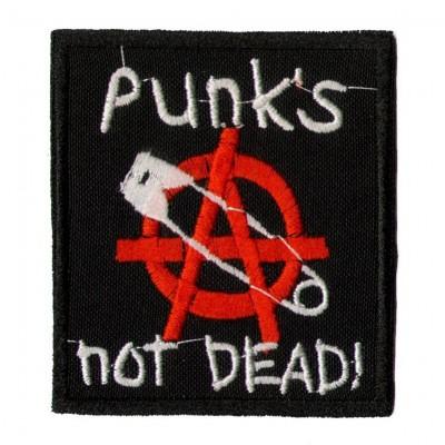 Нашивка Punks not dead v2