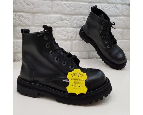 "Ботинки  Ranger 6 колец ""Black ""winter"