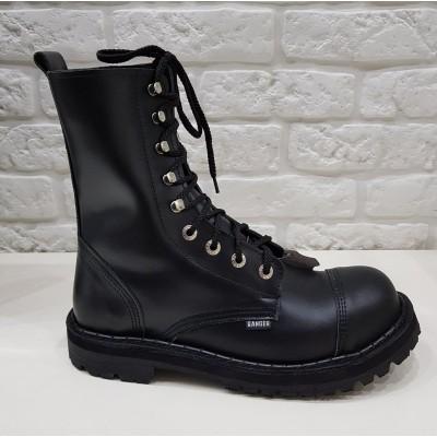 """Ботинки Ranger 9 колец """"Black """"крючки"""