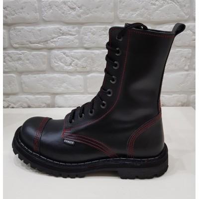 "Ботинки Ranger 9 колец ""Black Red line"""