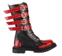 "Ботинки Ranger 12 колец ""Fire Red"" 4ремня"