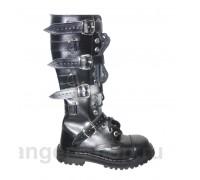 """Ботинки Ranger 16 колец """"Black """" 4 ремня и кольца"""