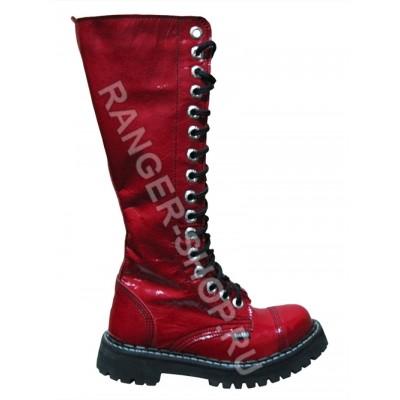 """Ботинки Ranger  16 колец  """"Red""""  Лаковые"""