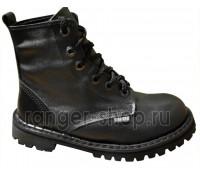 """Ботинки Ranger 6 колец """"Black Hard """""""