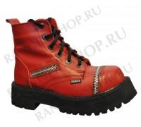 "Ботинки Ranger 6 колец ""Deep Red""молния"