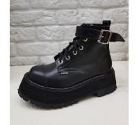 """Ботинки Ranger 6 колец """"Black""""+1ремень вверху"""
