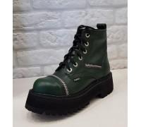 """Ботинки Ranger 6 колец """"Green""""молния"""