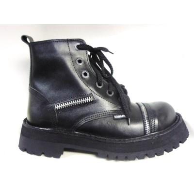 """Ботинки Ranger 6 колец """"Black """" молния"""