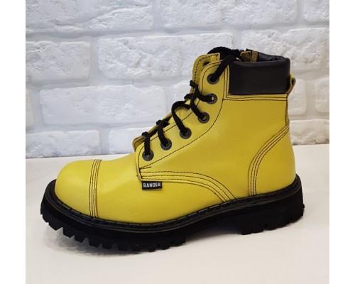 """Ботинки Ranger """"Yellow """" 6 колец кант"""