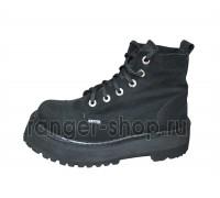 "Ботинки Ranger 6 колец ""Black"" замша"