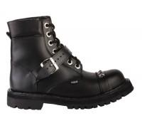 """Ботинки Ranger 7 колец  """"Black """" 1 ремень мягкий кант"""