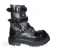 """Ботинки Ranger 9колец """"Black"""" 3ремня"""
