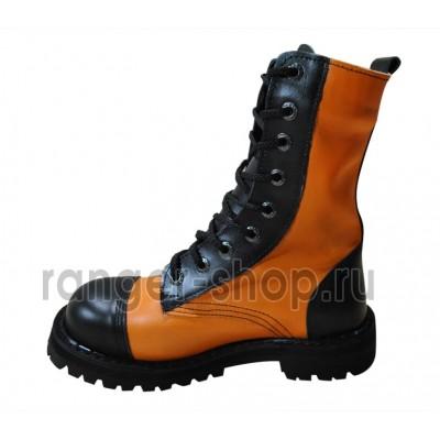 "Ботинки Ranger 9 колец "" Black Orange """