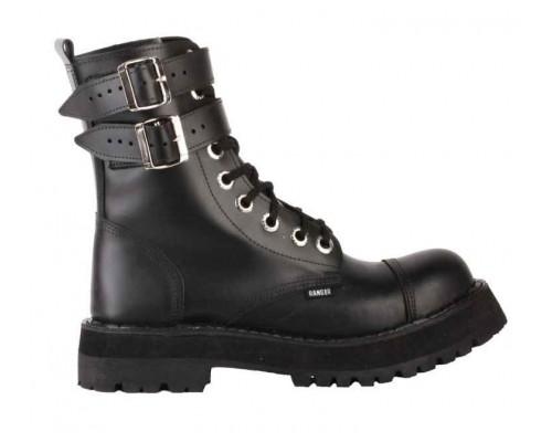"""Ботинки 9 колец """"Black """" 2ремня"""
