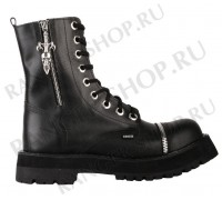 "Ботинки Ranger 9 колец ""Black Zipper Skull """