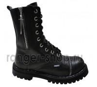 """Ботинки Ranger 9 колец """"Black """" молния+ меч """""""