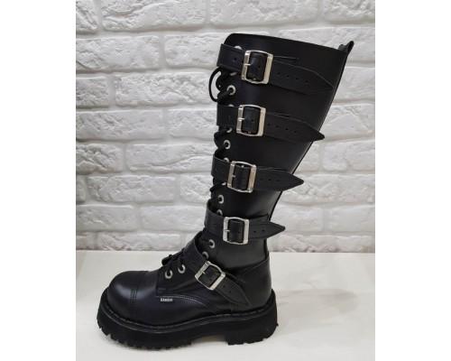 "Ботинки  Ranger 16 колец 5 ремней ""Black ""winter"